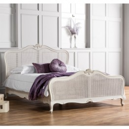 Frank Hudson Chic 5' Cane Bed - Silver, Weathered or Chalk