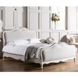 Frank Hudson Chic 5' Linen Bed - Silver, Weathered or Chalk