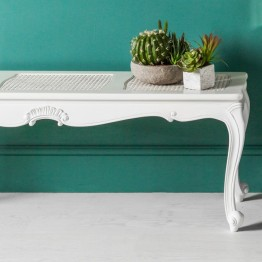 Frank Hudson Chic Bench - Silver, Weathered or Chalk