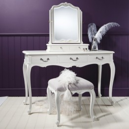 Frank Hudson Chic Dressing Table - Silver, Weathered or Chalk