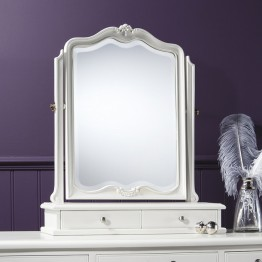 Frank Hudson Chic Dressing Table Mirror - Silver, Weathered or Chalk