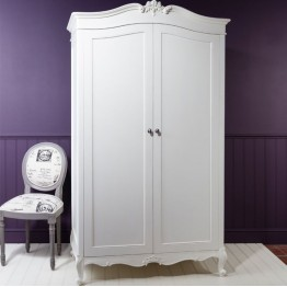 Frank Hudson Chic 2 Door Wardrobe - Silver, Weathered or Chalk