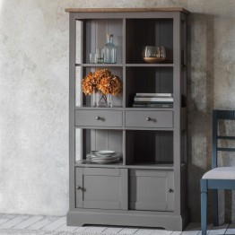 Hudson Living Cookham Bookcase in Grey