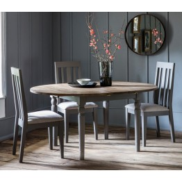 Hudson Living Cookham Round Extending Dining Table in Grey
