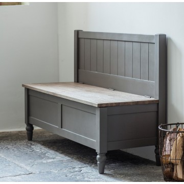 Hudson Living Cookham Hall Bench in Grey