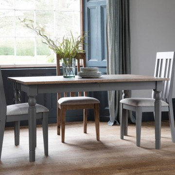 Hudson Living Cookham Extending Dining Table in Grey