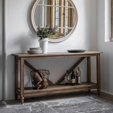 Hudson Living Cookham Trestle Console Table in Oak