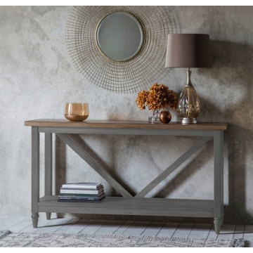Hudson Living Cookham Trestle Console Table in Grey