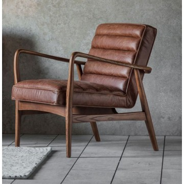 Frank Hudson Datsun Chair in Vintage Brown