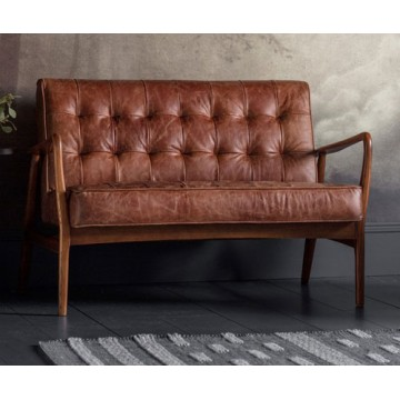 Frank Hudson Humber Sofa in Vintage Brown