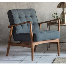 Frank Hudson Humber Chair in Dark Grey Linen