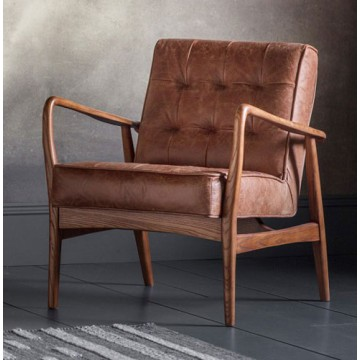 Frank Hudson Humber Chair in Vintage Brown