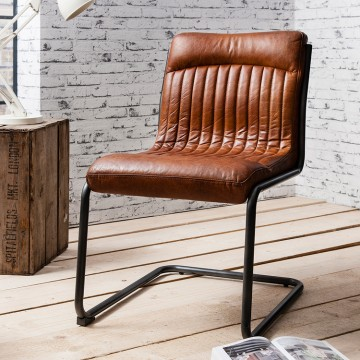 Hudson Living Capri Dining Chair - BROWN COLOUR