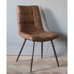Hudson Living Darwin Dining Chairs - Only available as a pack of 2  - BROWN COLOUR