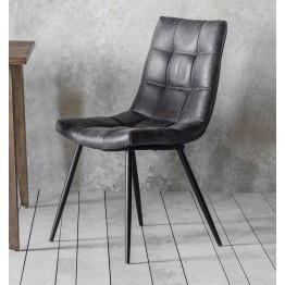 Hudson Living Darwin Dining Chairs - Only available as a pack of 2  - GREY COLOUR