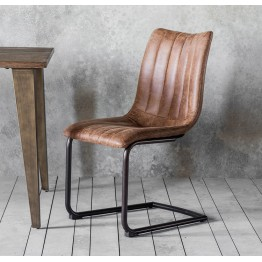 Hudson Living Edington Dining Chairs - Only available as a pack of 2  - BROWN COLOUR