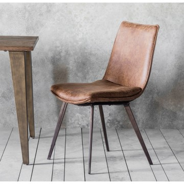 Hudson Living Hinks Dining Chairs - Only available as a pack of 2  - BROWN COLOUR