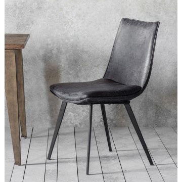 Hudson Living Hinks Dining Chairs - Only available as a pack of 2  - GREY COLOUR