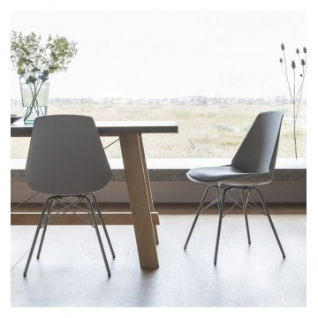 Hudson Living Finchley Dining Chairs - Only available as a pack of 4 - GREY COLOUR