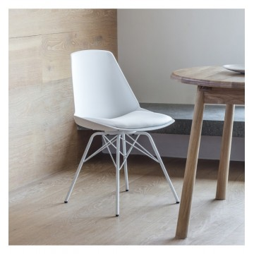 Hudson Living Finchley Dining Chairs - Only available as a pack of 4 - WHITE COLOUR