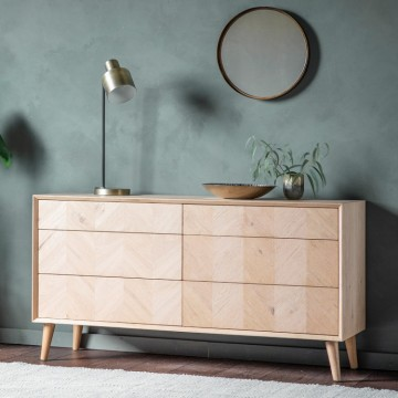 Hudson Living Milano 6 Drawer Chest or Sideboard