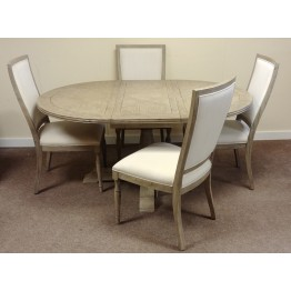 Frank Hudson Mustique Dining Set - Round Table & 4 Chairs