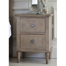 Frank Hudson Mustique 2 Drawer Bedside Table or Lamp Table