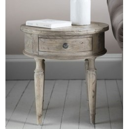 Frank Hudson Mustique Round 1 Drawer Side Table