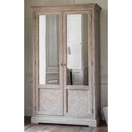 Frank Hudson Mustique 2 Door Mirrored Wardrobe