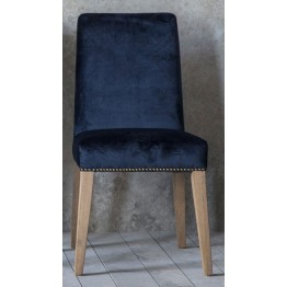 Pair of Frank Hudson Rex Dining Chairs - Atlantic Velvet Fabric