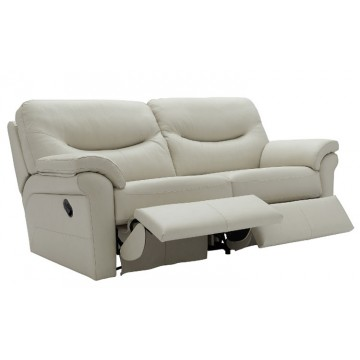 G Plan Washington Leather - 3 Seater Manual Recliner Sofa Double