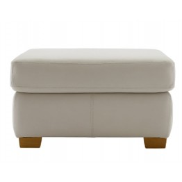 G Plan Washington Leather - Footstool with fixed top