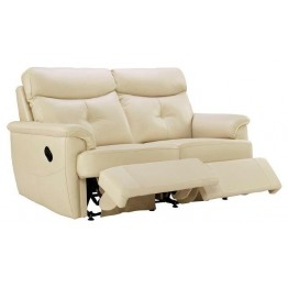G Plan Atlanta Leather - 2 Seater Powered Recliner Sofa Double