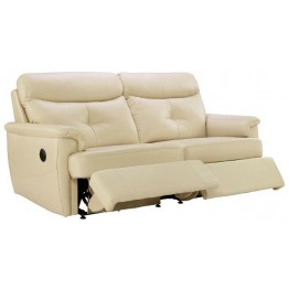 G Plan Atlanta Leather - 3 Seater Manual Recliner Sofa Double