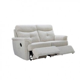 G Plan Atlanta Fabric - 2 Seater Powered Recliner Sofa Double