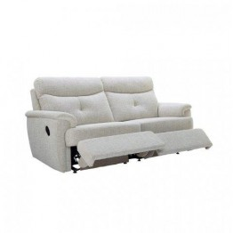 G Plan Atlanta Fabric - 3 Seater Manual Recliner Sofa Double