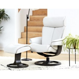 G Plan Bergen Ergoform Swivel Chair & Stool - Large Size