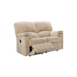 G Plan Chloe Fabric - 2 Seater Manual Recliner Sofa LHF Or RHF