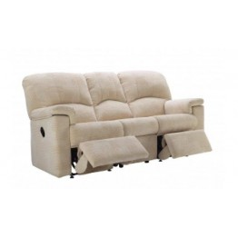 G Plan Chloe Fabric - 3 Seater Manual Recliner Sofa Double