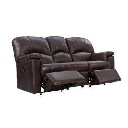 G Plan Chloe Leather - 3 Seater Manual Recliner Sofa Double