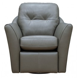 G Plan Flint Swivel Chair Leather