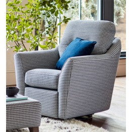 G Plan Flint Swivel Chair Fabric