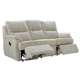 G Plan Hartford Fabric - 3 Seater Manual Recliner Sofa Double