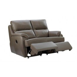 G Plan Hartford Leather - 2 Seater Powered Recliner Sofa Double