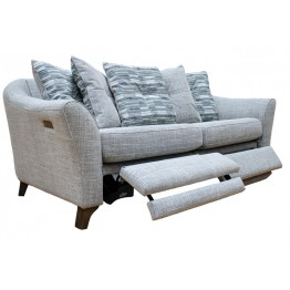 G Plan Hatton 3 Seater Power Footrest Sofa in Fabric (formal or pillow back)