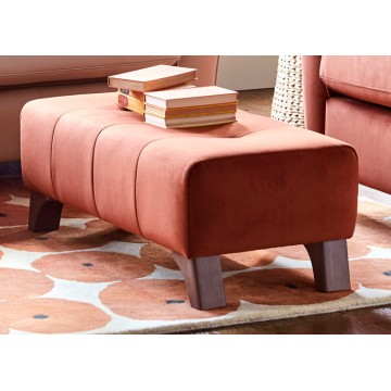 G Plan Hatton Footstool/Ottoman in Leather