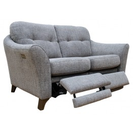 G Plan Hatton 2 Seater Power Footrest Sofa in Fabric (formal or pillow back)
