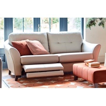 G Plan Hatton 3 Seater Sofa with Power Footrest in Leather