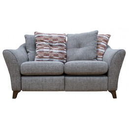 G Plan Hatton 2 Seater Sofa in Fabric (formal or pillow back)