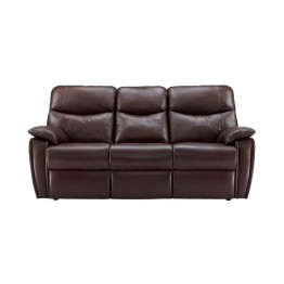 G Plan Henley Leather - 3 Seater Manual Recliner Sofa Double